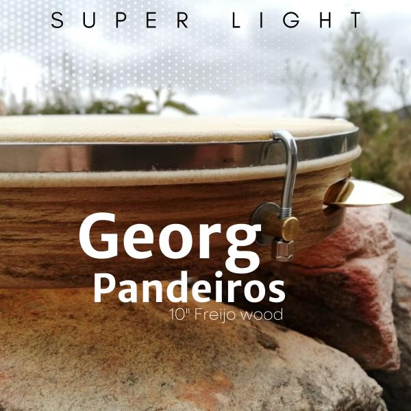 "Pandeiro 10"" Freijo - piel natural Georg Pandeiros A603104"