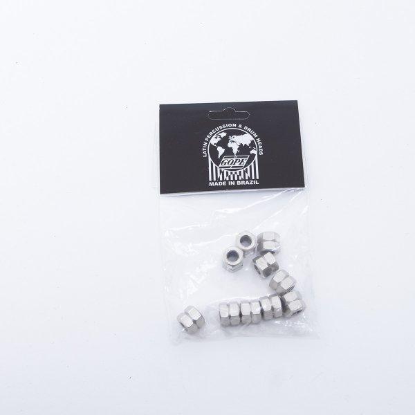 Ecrou de rechange court - 10mm, pack de 10, chromé Gope A379010