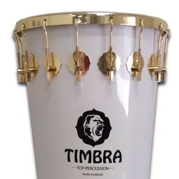"""Timbal 14"""" x 90 cm - white, golden HW, 16 hooks Timbra A335031"""