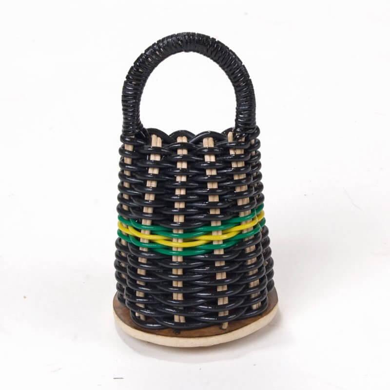 Marcos China RIO   Caxixi Medium - schwarzes Kabelgeflecht A133413