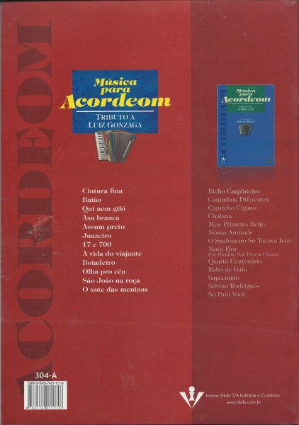 Musica Para Acordeom - Tributo a L.Gonzaga I.Vitale A871416