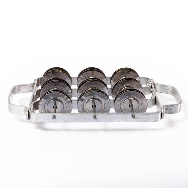 Chocalho - 18 platinelas inox King A143203