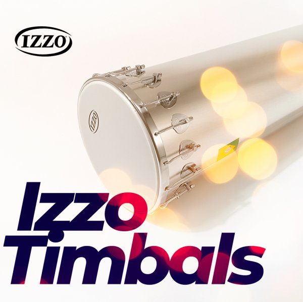 Timbal 14'' x 90 cm - aluminio, 16 ganchos Izzo A322122