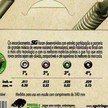 Satz Saiten Cavaquinho - SG Izzo A325010