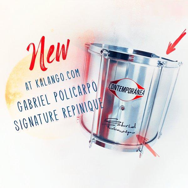"""Repinique 12""""x 30cm signature Gabriel Policarpo - aluminium Contemporânea A341907"""