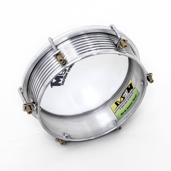 Tamborim 6'' aluminio - 6 ganchos Ivsom A110802