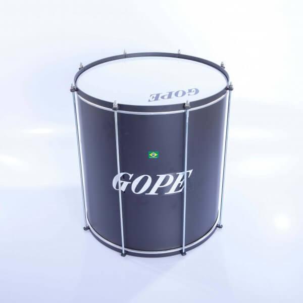 Surdo light 16'' x 45 cm - negro, HW negro Gope A373102