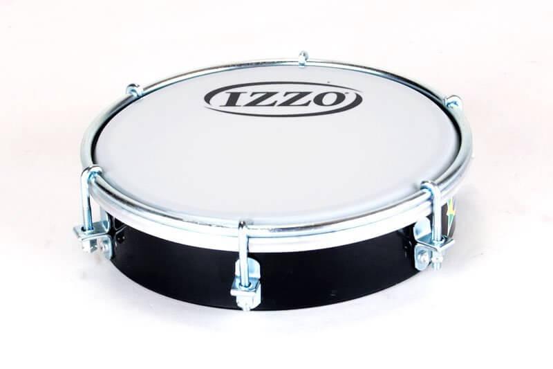 Izzo   Tamborim 6'' - Kunststoff, schwarz A321918