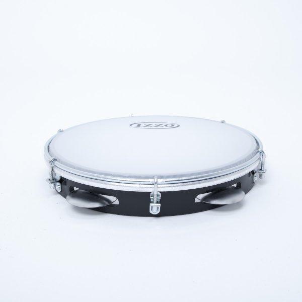 Pandeiro 10'' ABS negro - parche nylon Izzo A321214