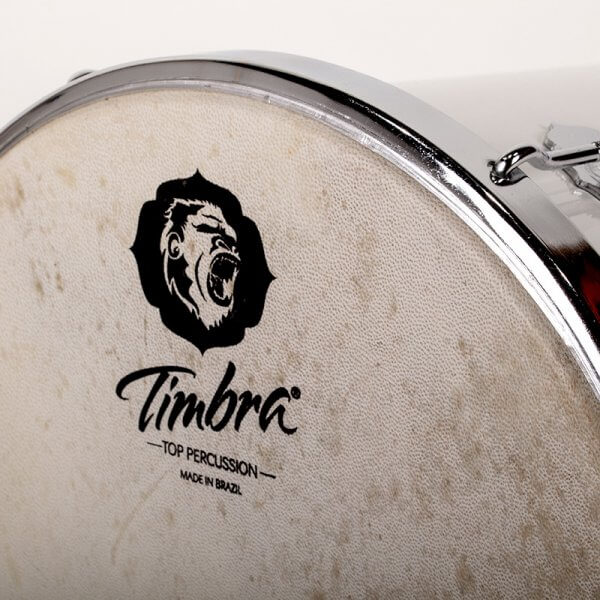 Tan Tan 12'' x 50 cm - Alu, weiss, Hardware verchromt Timbra A332611