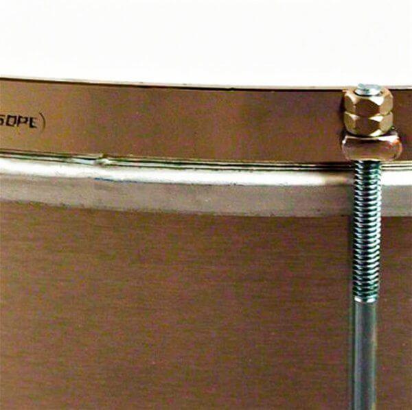 Surdo light 16'' x 40cm aluminium HW chromé Gope A373302