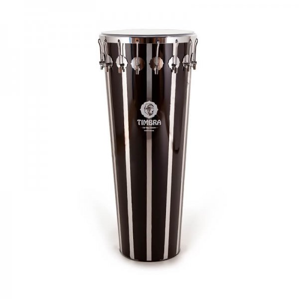 Timbal 14'' x 90 cm rayas negras verticales, 16 ganchos Timbra A335125