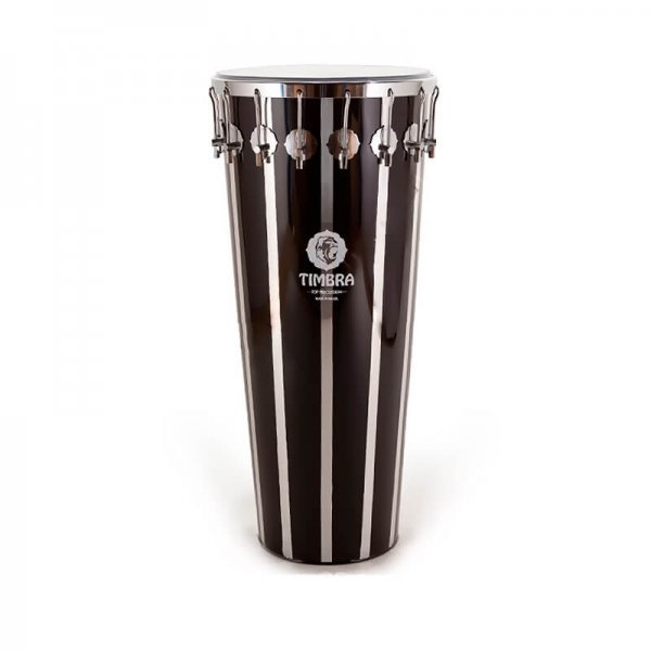 Timbal 14'' x 80 cm black vertical stripes, 16 hooks Timbra A335129