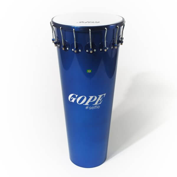 Timbal 14'' x 90cm aluminio, Selfie Azul, 16 ganchos Gope A374062